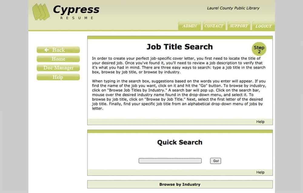 Cypress Resume Is A Service Thatu0027s Specifically Designed For Job Seekers  Skittish About Writing And Allows Anyone To Create A Professional Resume In  A ...  Cypress Resume