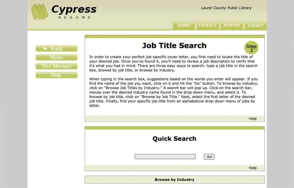cypress resume laurel county public library
