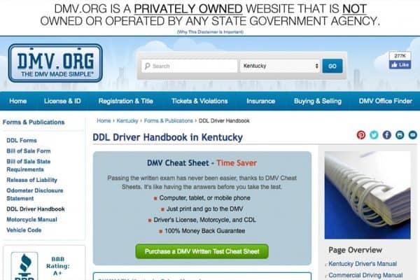 Kentucky Driver's Manual