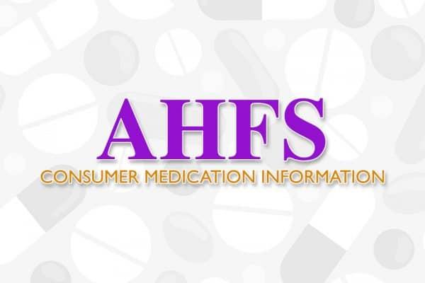 AHFS Consumer Medication