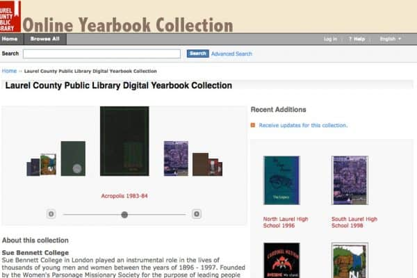 Laurel County Public Library Online Yearbook Collection