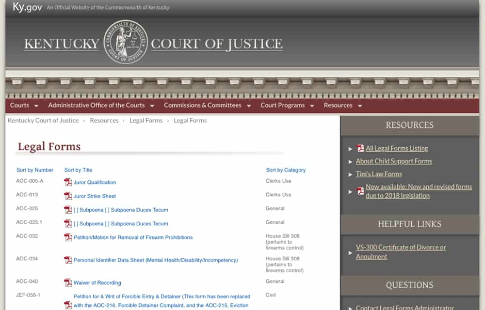 Kentucky Court of Justice - Laurel County Public Library